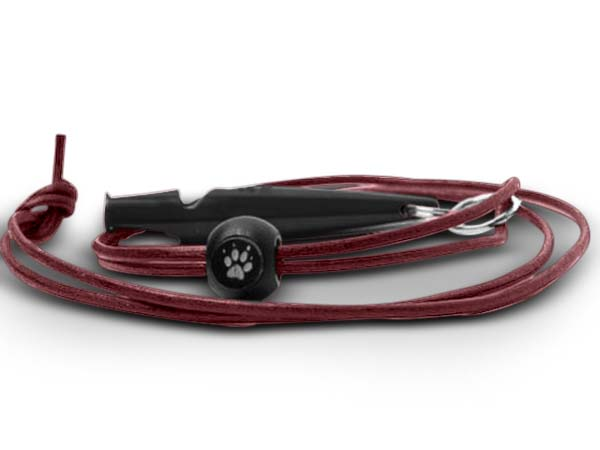 Leather lanyard for whistle cherry in the group Training / Hunting / Whistles & lanyards / Whistle lanyard at PAW of Sweden AB (2202B)