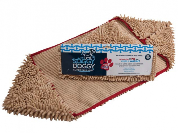 Soggy Doggy  ®  Towel beige in the group The dog / Care / Drying- and cooling towel at PAW of Sweden AB (671030)