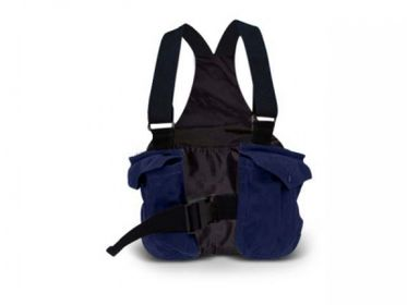 Picking-up vest Trainer Classic waxed cotton ink blue